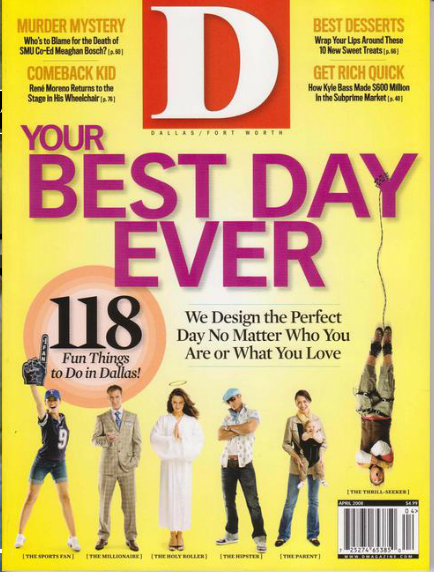 D Magazine Cover – Best Day – Photography by Bode Helm