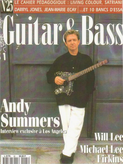 Guitar and Bass Magazine with Andy Summers