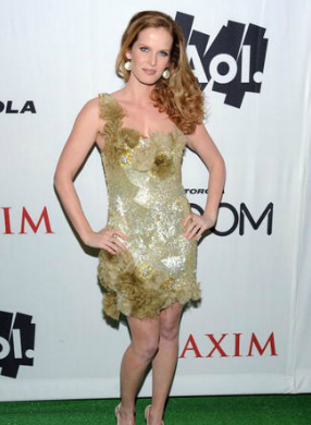 Rebecca Mader (from Lost) Maxium Red Carpet Event at the Superbowl